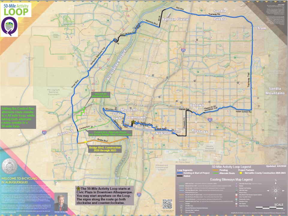 50 Mile Activity Loop Map: May 2020