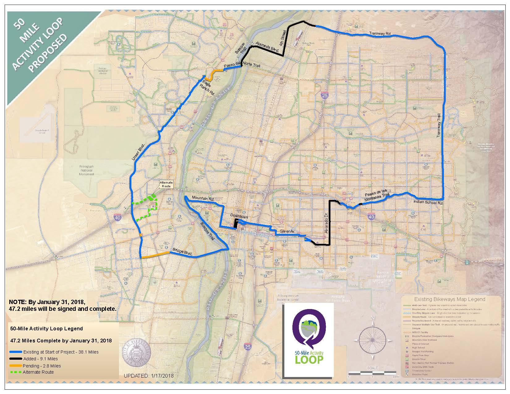 50Mile Activity Loop City of Albuquerque
