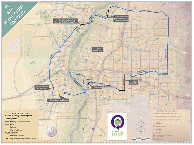 50 Mile Activity Loop Map dated Sept. 17, 2018