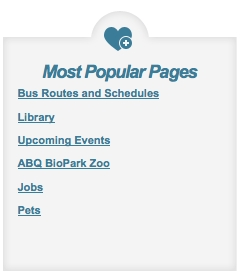 Most Popular Pages