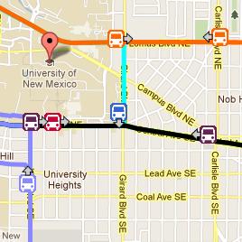 Bus Tracking Screenshot