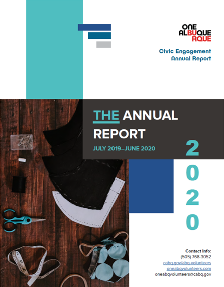 The cover of the FY19-20 OCE Annual Report
