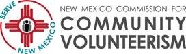 The NM State Commission for Community Volunteerism Logo.