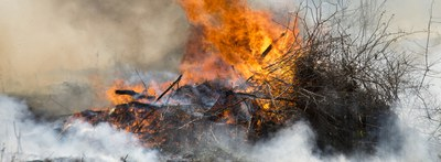 Compliance and Enforcement helps minimize open burning in Albuquerque.