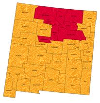 Radon map of New Mexico