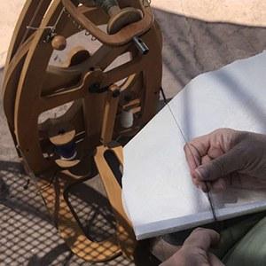 Carla Wackenheim, Spinning and Weaving