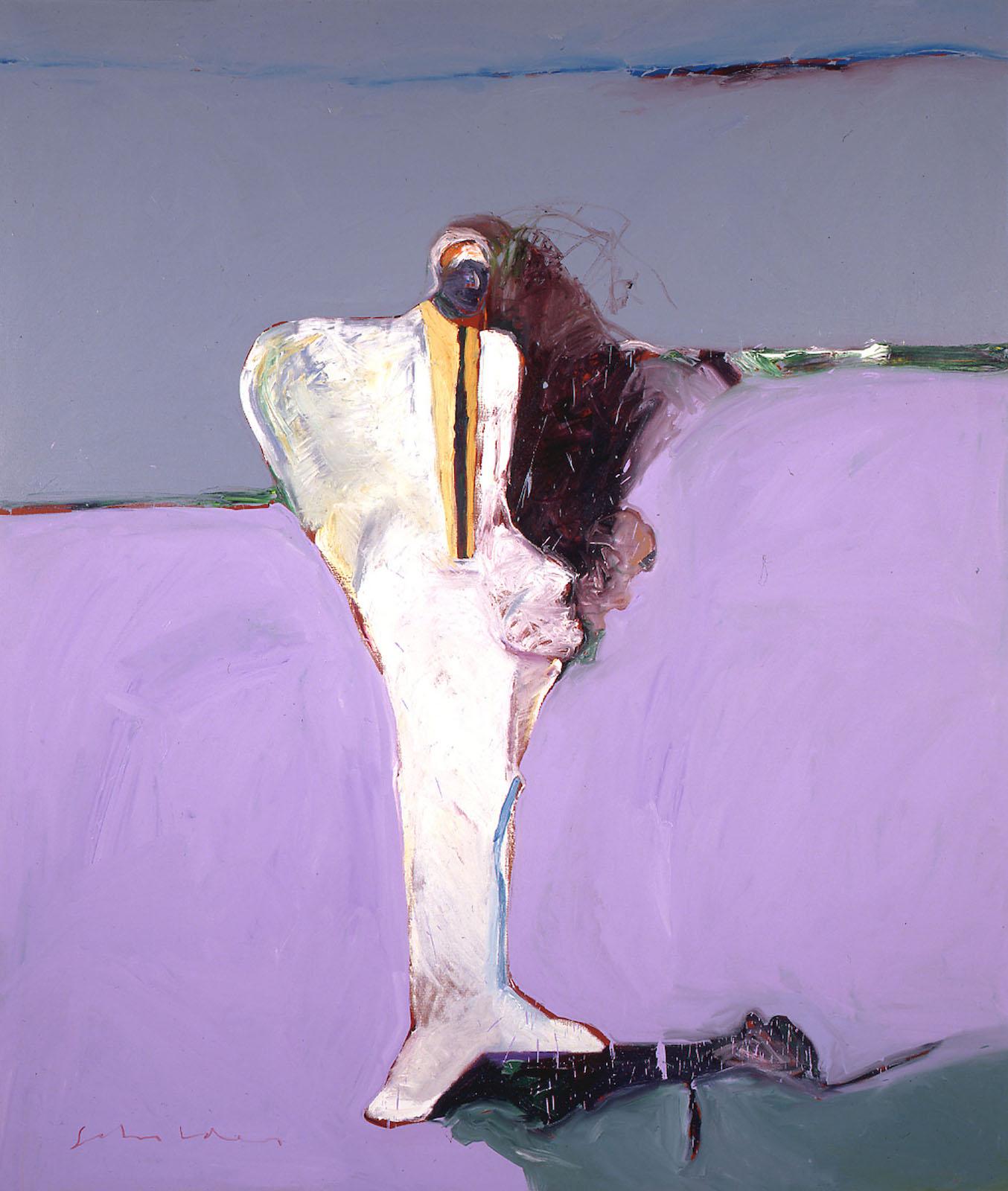 Fritz Scholder, Portrait in a White Suit