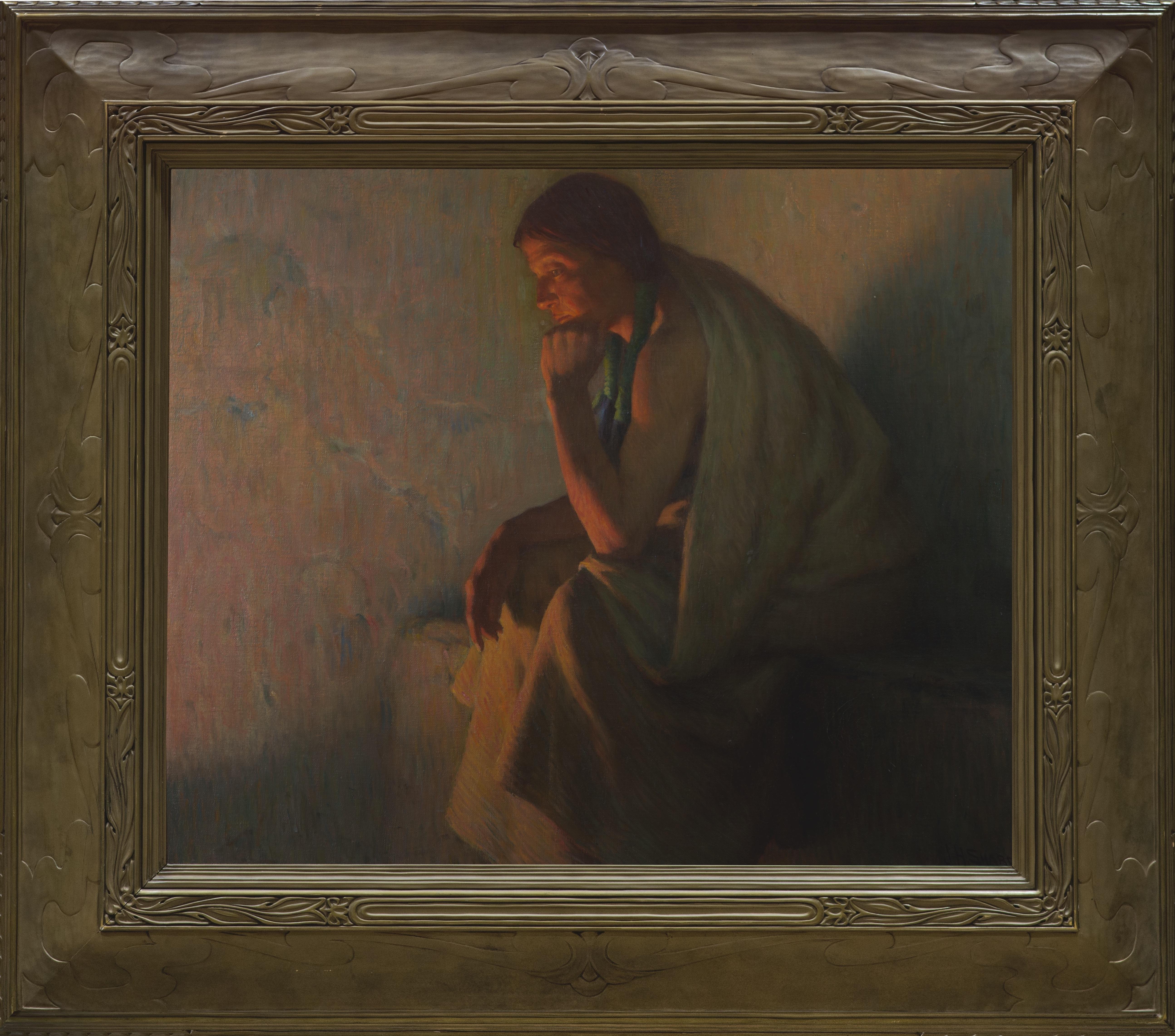 Joseph Henry Sharp, Indian by Firelight