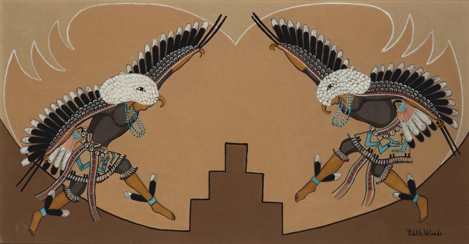 Pablita Velarde, Santa Clara Pueblo Eagle Dancers