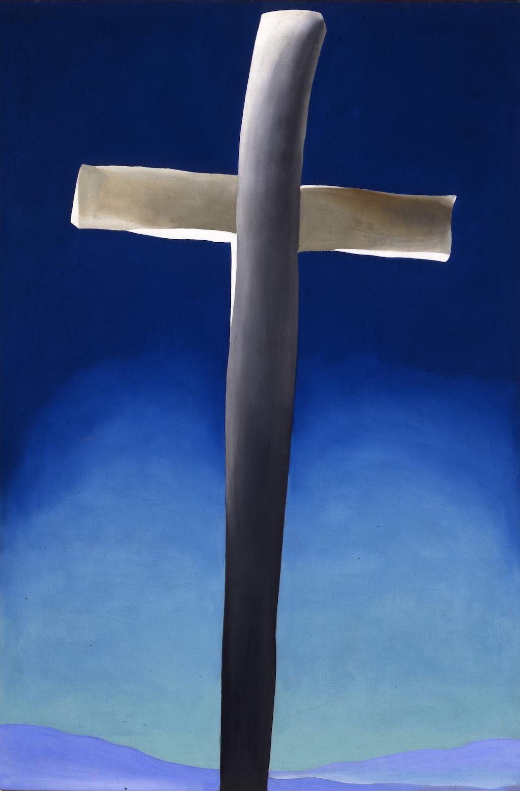 Georgia O'Keeffe, Gray Cross With Blue