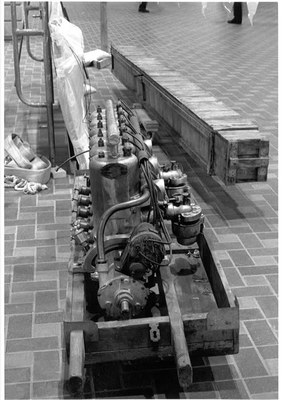 Roberts Engine and Crates, c. 1987. Museum and Aviation Dept. Purchase. 1987 G.O. Bond Fund, PC1987.41.1, 5, 6.
