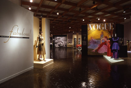 Two-piece dress, 1950s. Anita Bari, New York.  Acetate, metallic threads. Gift of Sytha Motto, PC1976.117.16a&b. Courtesy Dick Ruddy Photography.