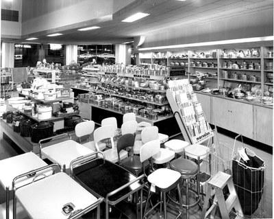 Interior of Korber's Hardware, 200 block of Second Street, 1950.  Photographer: Harvey Caplin, Ward Hicks Collection, 1982.180.736A