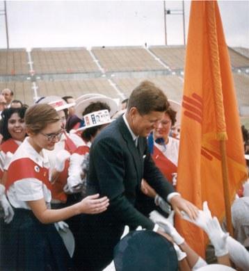 John F. Kennedy at University Stadium