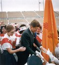 John F. Kennedy at University Stadium