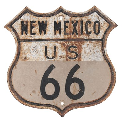 Rusty New Mexico U.S. Route 66 Highway Sign