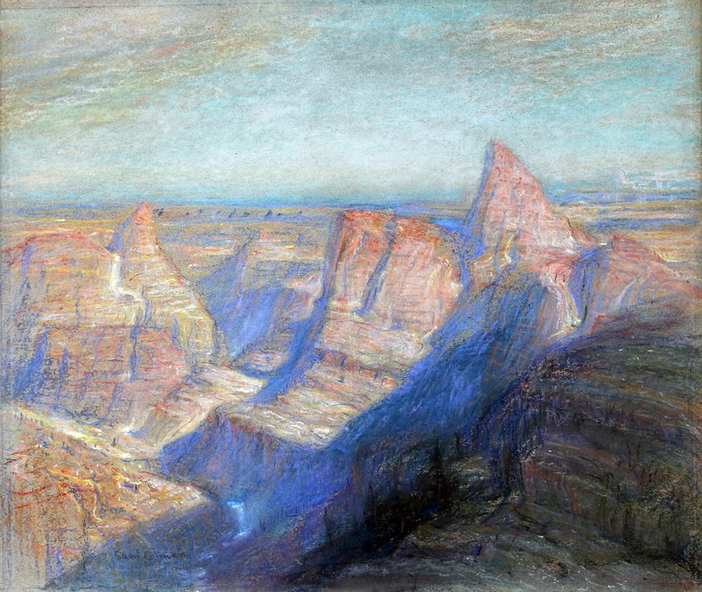 Landscape Drawing Samuel Colman