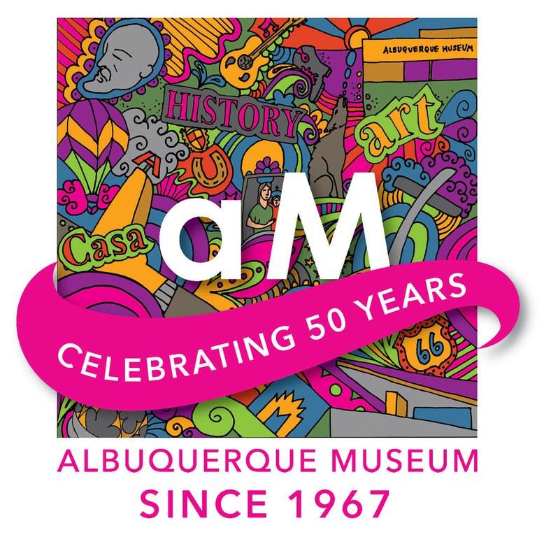 Albuquerque Museum 50th Anniversary Logo