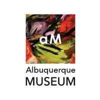 Albuquerque Museum logo featuring Elaine de Kooning's Juarez, stacked