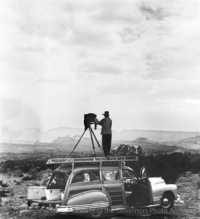 Ansel Adams at Rainbow Lodge ca.1944