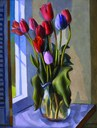 ART Andrew Dasburg, Red Tulips
