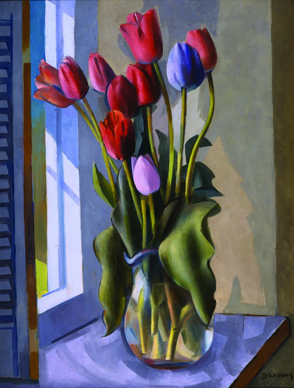 ART Andrew Dasburg, Red Tulips