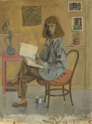 Elaine de Kooning, Self-Portrait, oil on Masonite, 1946, National Portrait Gallery, Smithsonian Institution, courtesy Elaine de Kooning Trust