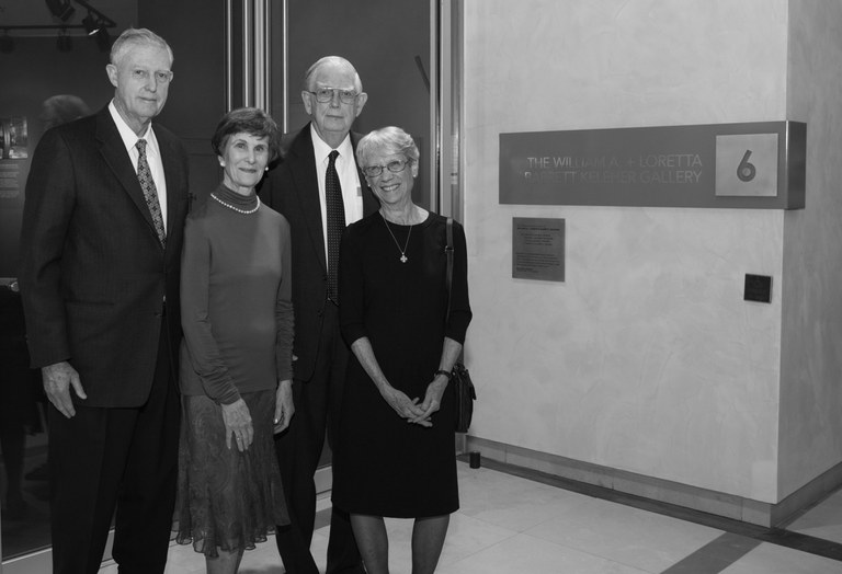 Mr and Mrs Michael Keleher, and Mr and Mrs William B Keleher at the 2015 opening of the gallery in honor of their parents.