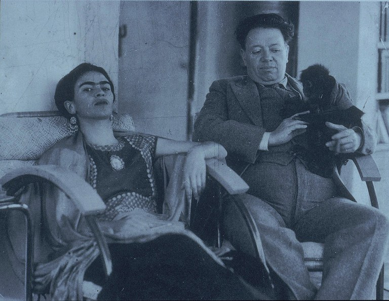 Frida and Diego with Fulang Chang