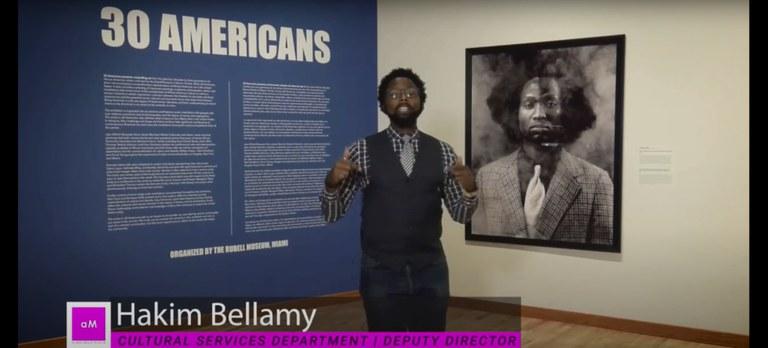 Hakim Bellamy video tour of 30 Americans