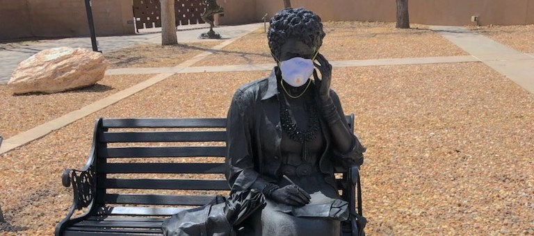 Julia Resting with a mask