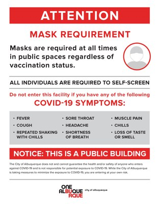 Mask Requirements 08/02/21