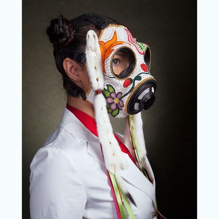 TRINITY Naomi Bebo, Beaded Mask, 2015