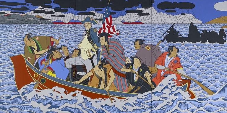 Roger Shimomura, Shimomura Crossing the Delaware