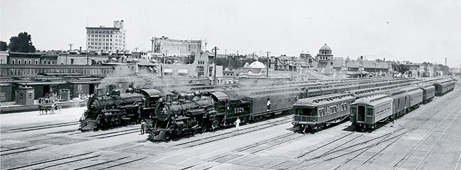 Photo Archives Trains at the Albuquerque Depot 1940