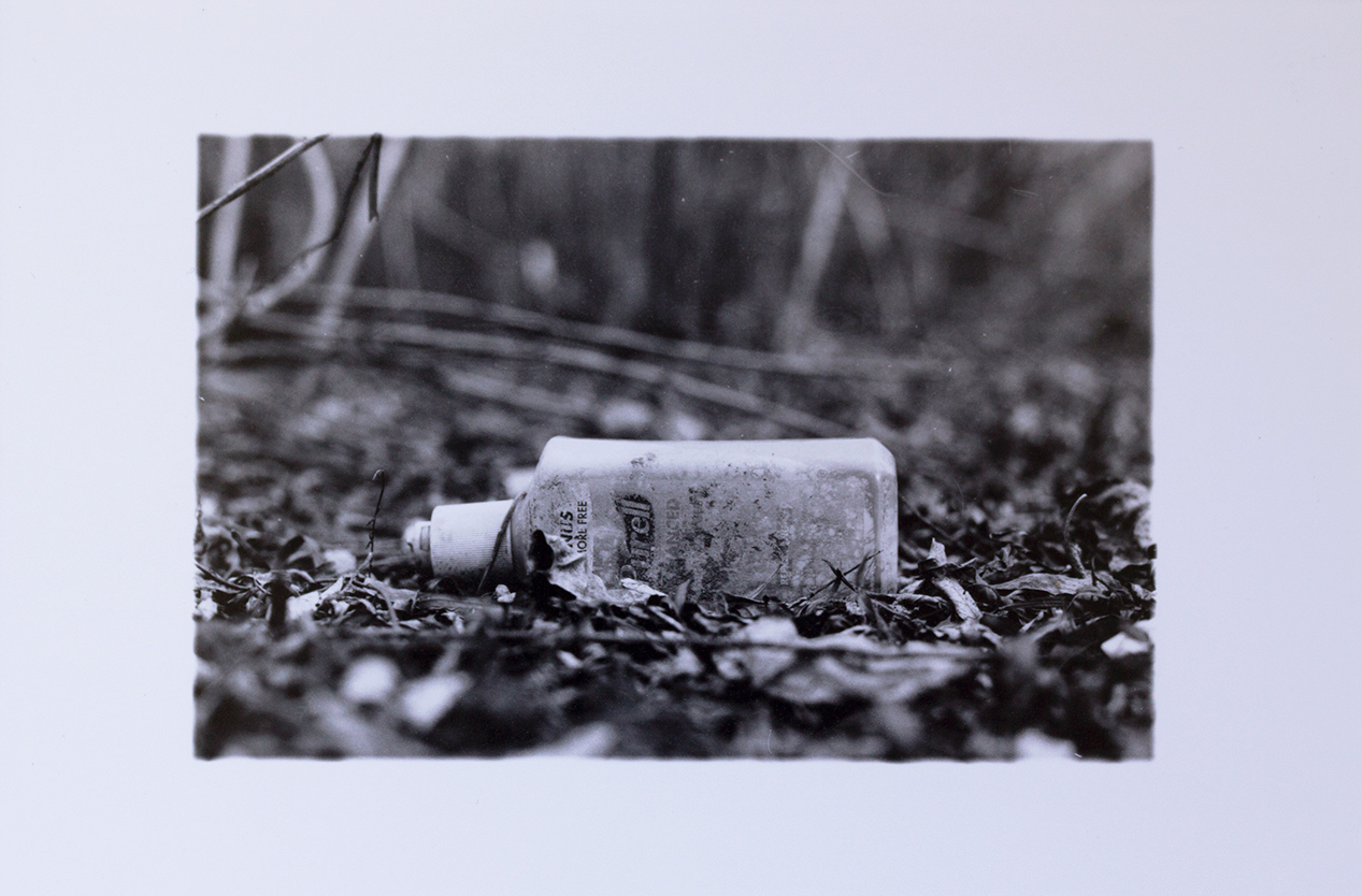 Purell Bottle along the Bosque by Lacey Chrisco