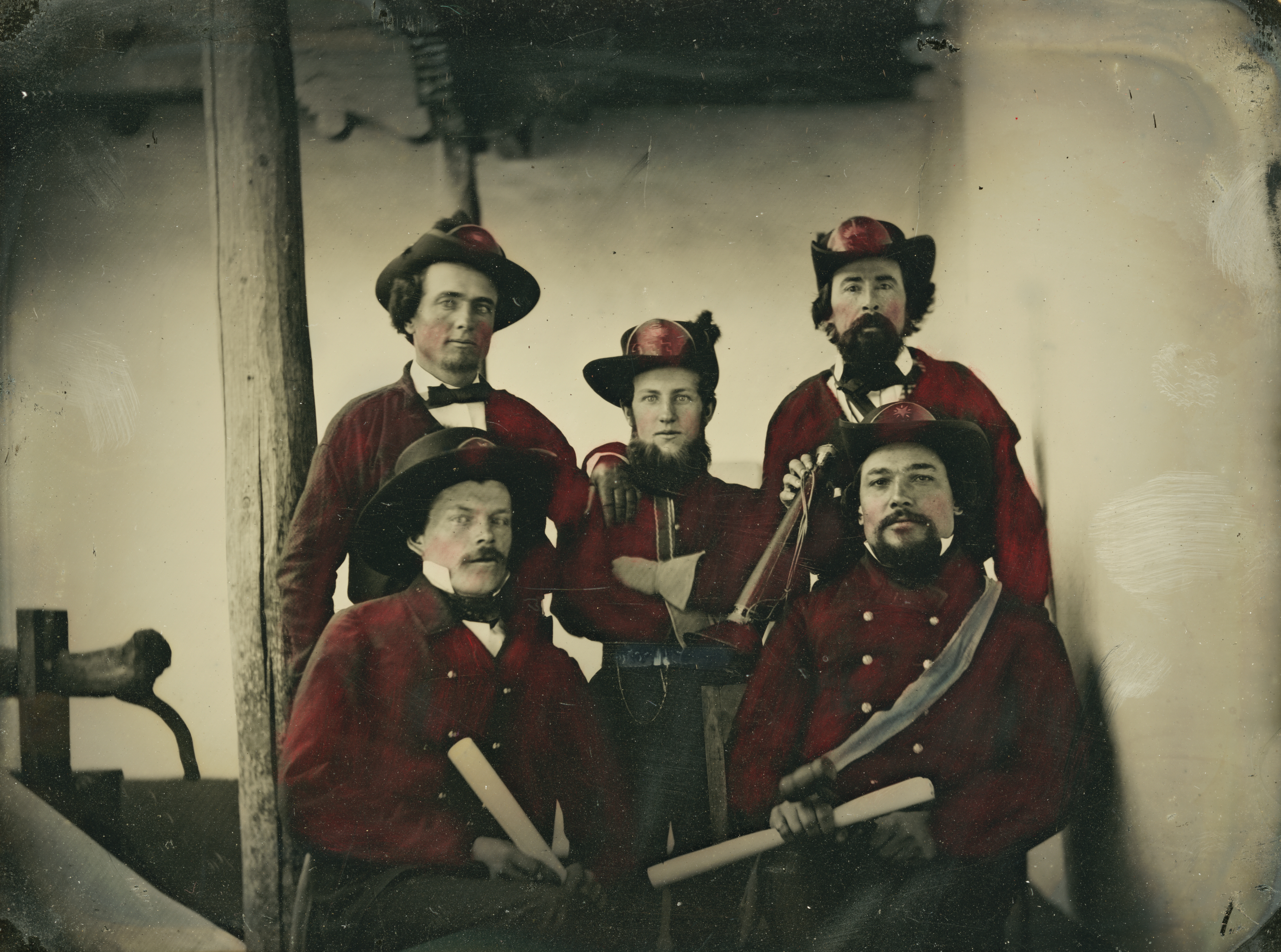 Palace Santa Fe Fire Department ambrotype