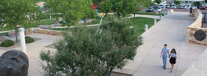 Albuquerque Museum Sculpture Garden Overhead