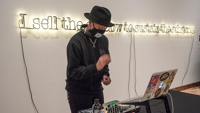 DJ Anjo at Albuquerque Museum