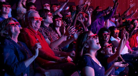 4-D Theater Audience