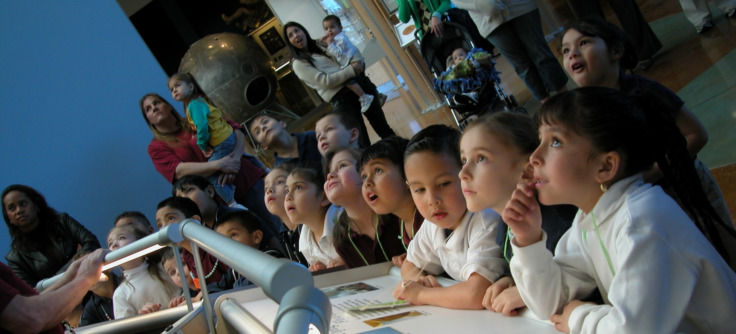 A photo of a group of students at the Balloon Museum.