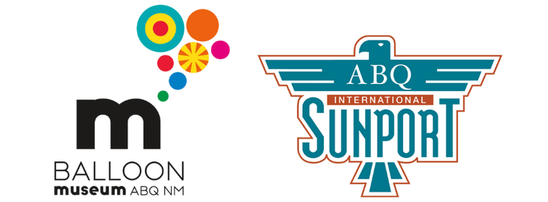 Balloon Museum and Sunport logos