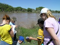 Students visit the Rio Grande as part of the Rio Rangers program.