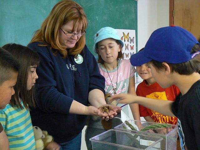 Teacher with Tarantula
