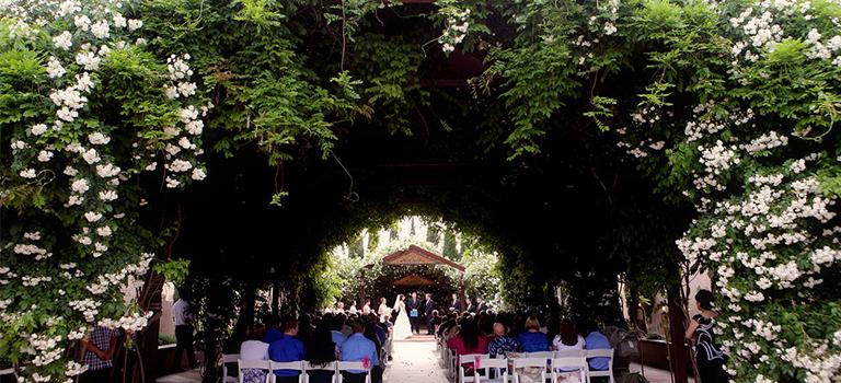 ABQ BioPark Ceremonial Garden horizontal shot.