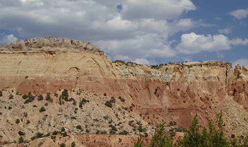 Ghost Ranch restoration project, 2018. Landscape photo.
