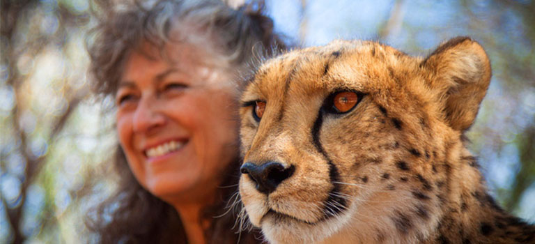 Laurie Marker and Cheetah
