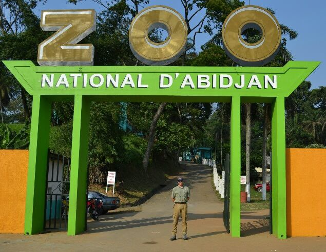 Matt at Zoo d'Abidjan
