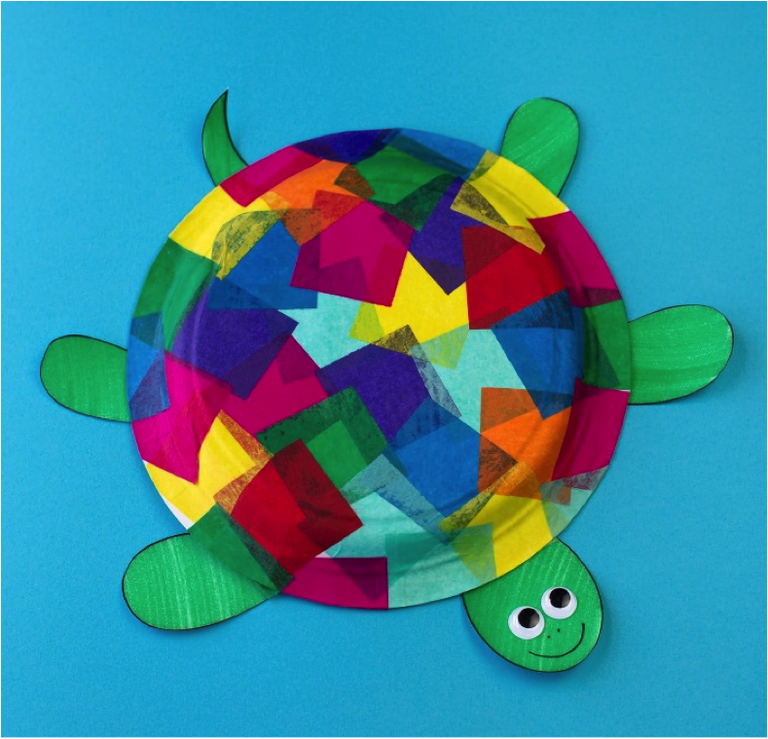 Turtle Paper Plate Craft Complete