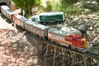 caption:A model train at the Botanic Garden
